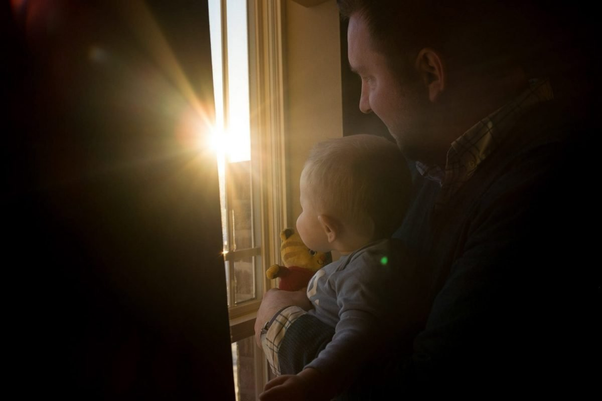 Family Photography Madison WI Dad Baby Sunset
