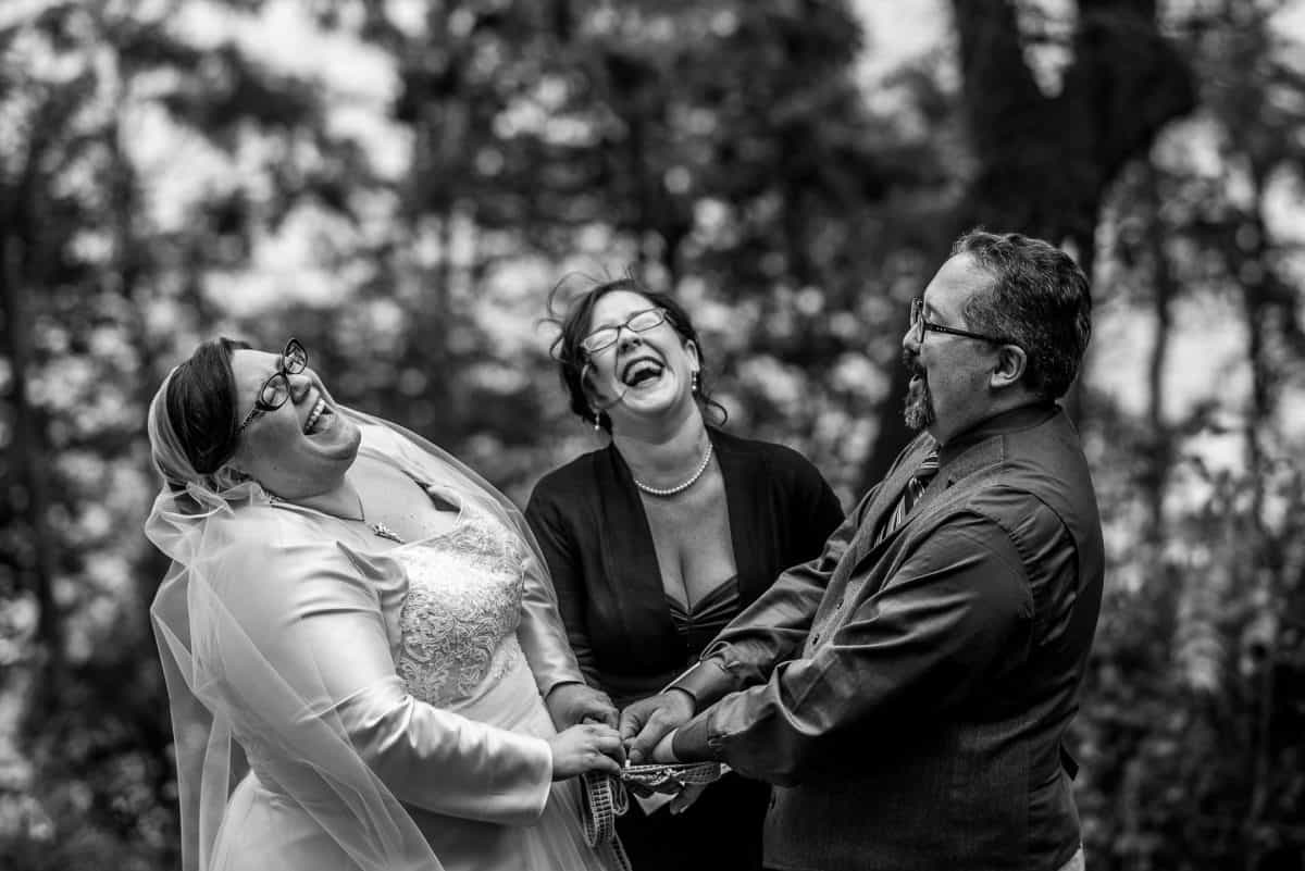 Madison Wedding Photographers Ceremony Laughter