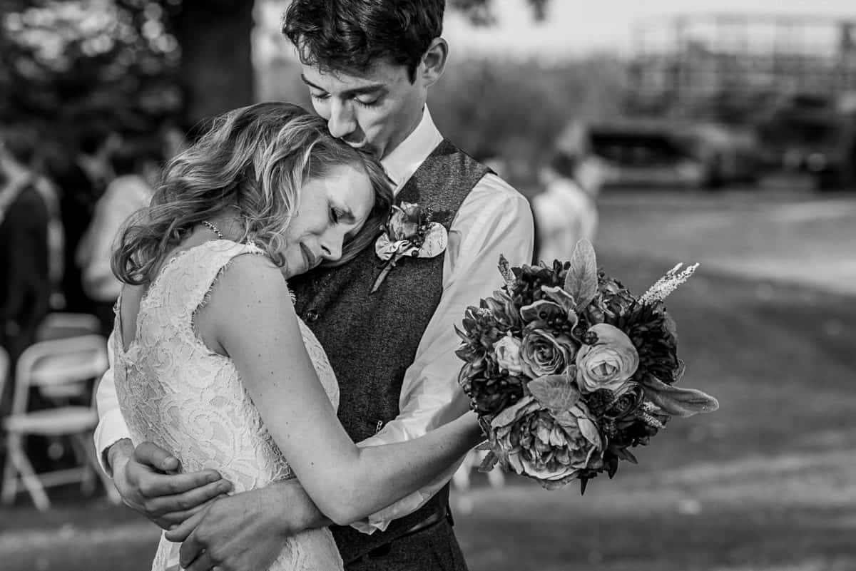 Wedding Photographers in Madison WI Dancing Kiss