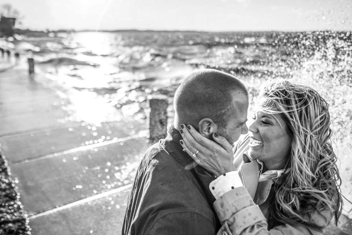Engagement Photography Madison WI Park Kiss