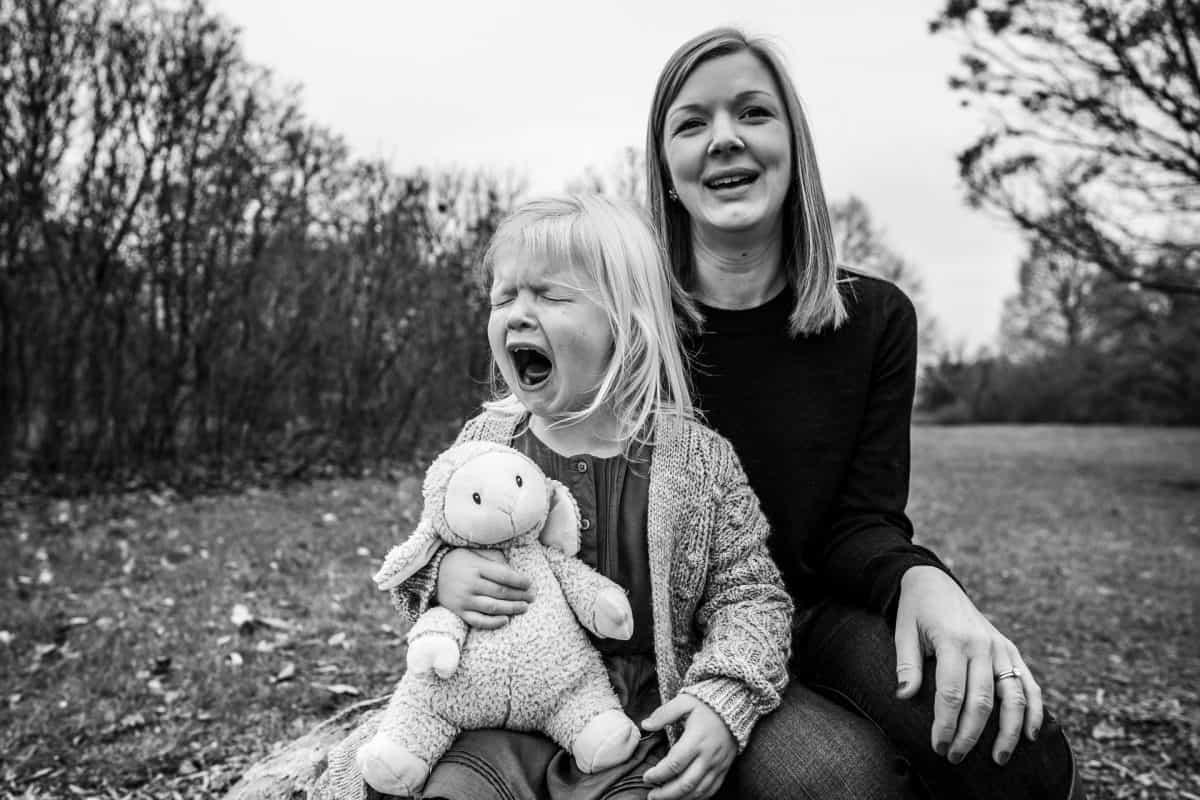 Family Photographers Madison WI Kid Crying