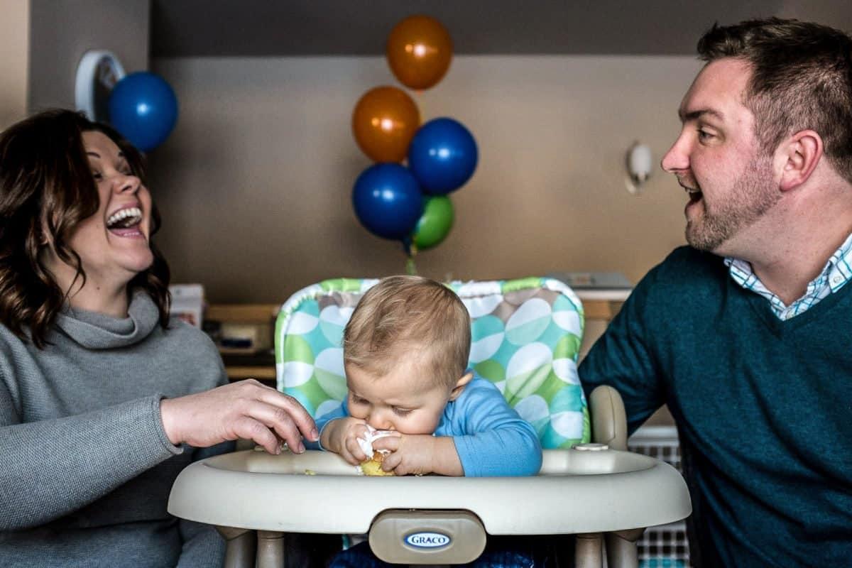 Family Photography Madison WI Baby Cake