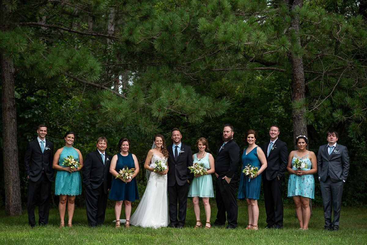 Portrait of the wedding party