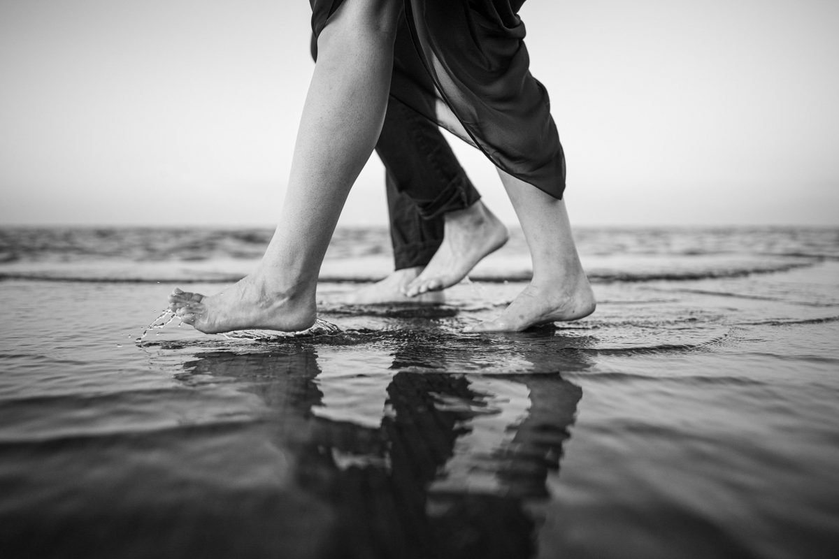 Engagement Photography Madison WI Feet in Sand