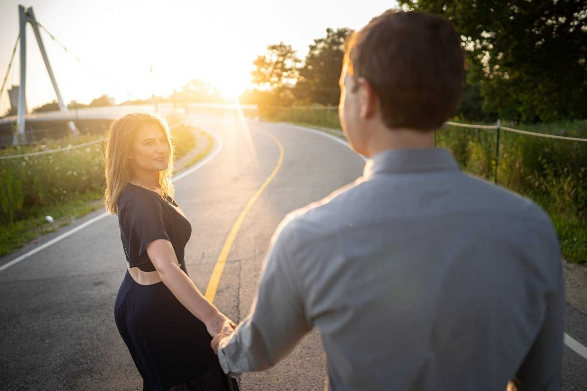 Engagement Photography Hand Holding Sunset