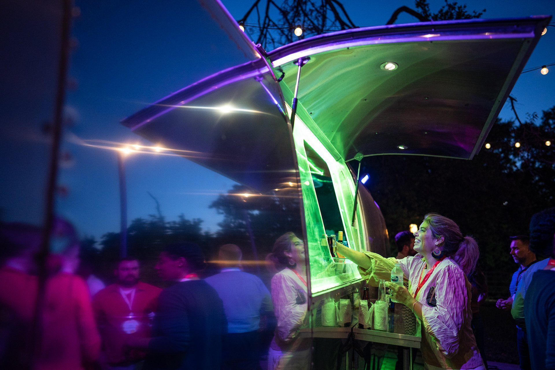 Event Photography Madison WI Food Truck Neon