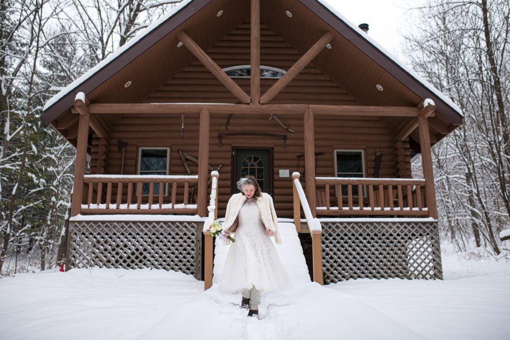 Madison WI Wedding Photographers Bride Log Cabin