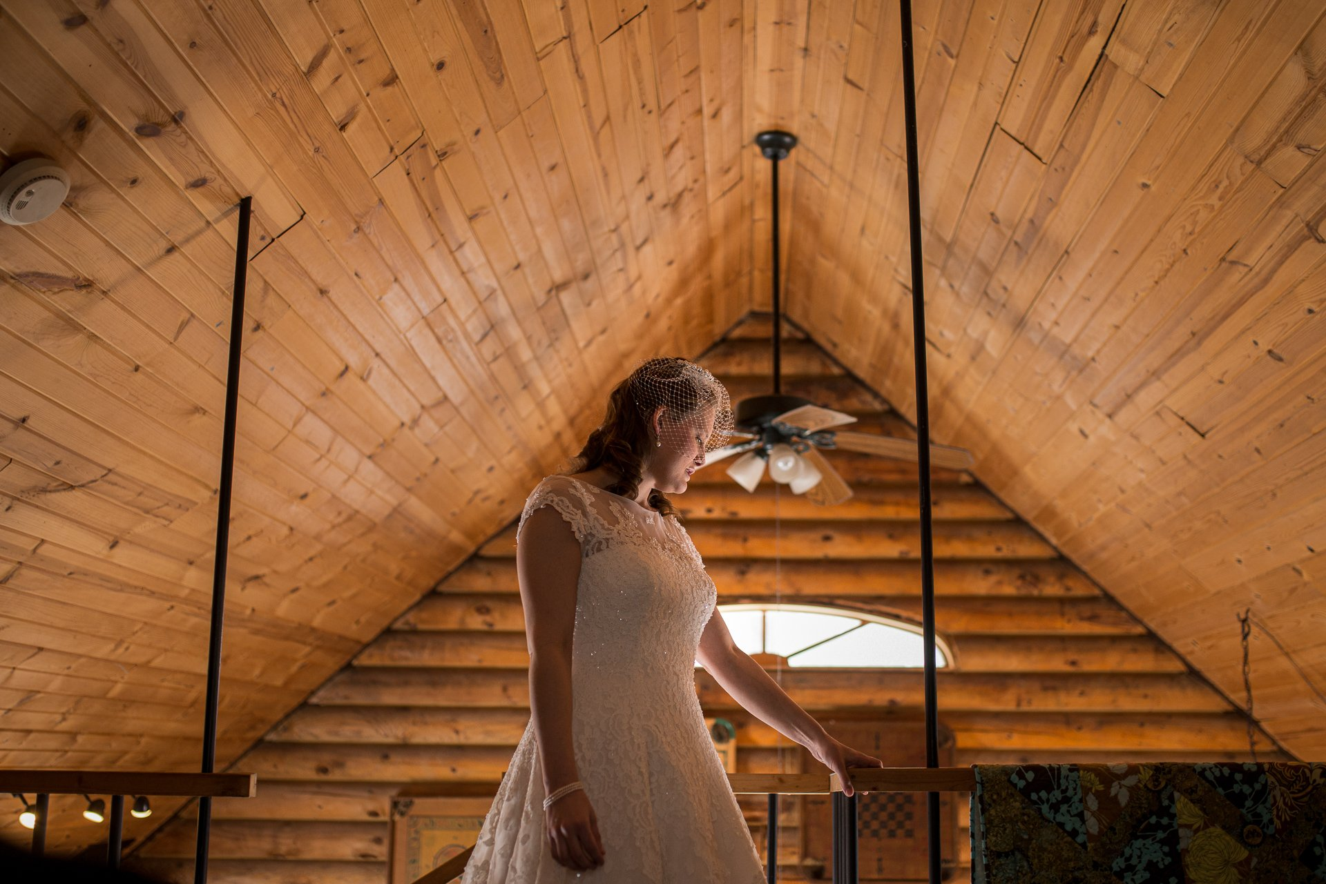Wedding Photographers Madison WI Bride Cabin