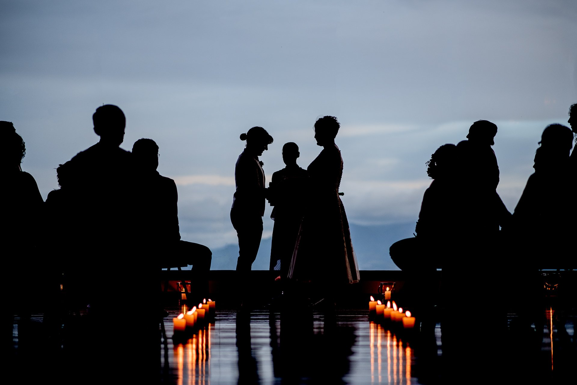 Wedding Photojournalism Madison WI Silhouette