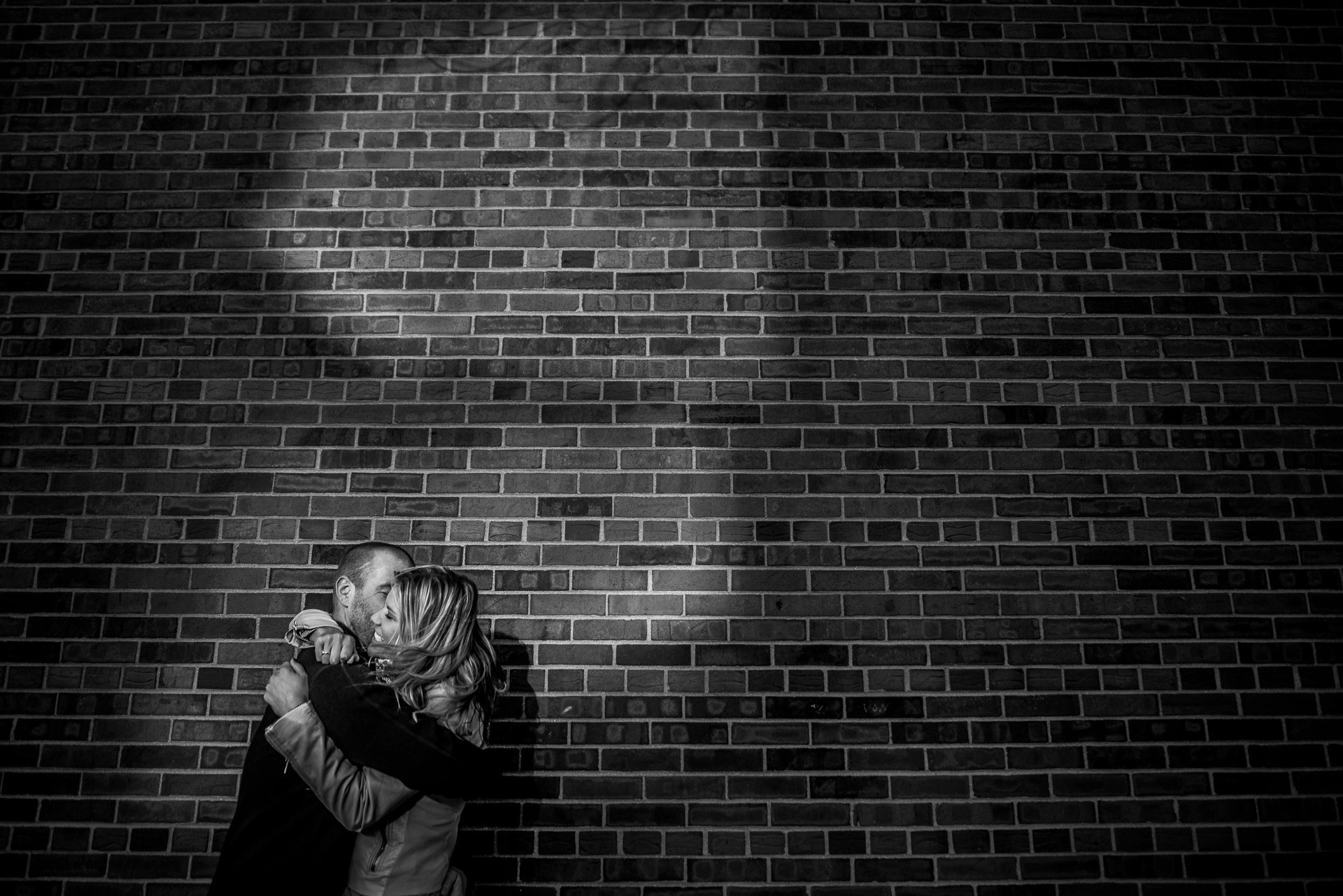Engagement Photographers Madison WI Couple Hug