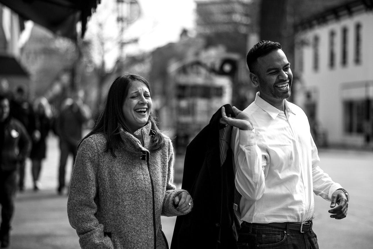 Engagement Photographers Madison WI Laugh Couple