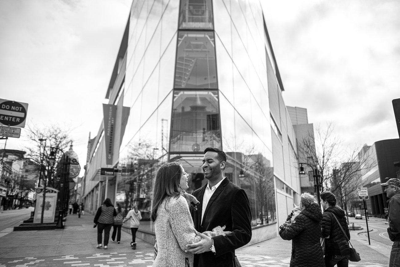 Engagement Photographers Madison WI MMoCA Couple