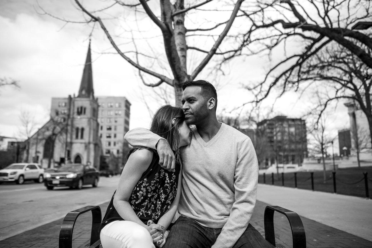Engagement Photographers Madison WI Snuggle