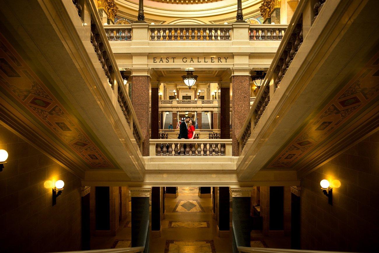 Engagement-Photographers-Madison WI Wisconsin Capitol