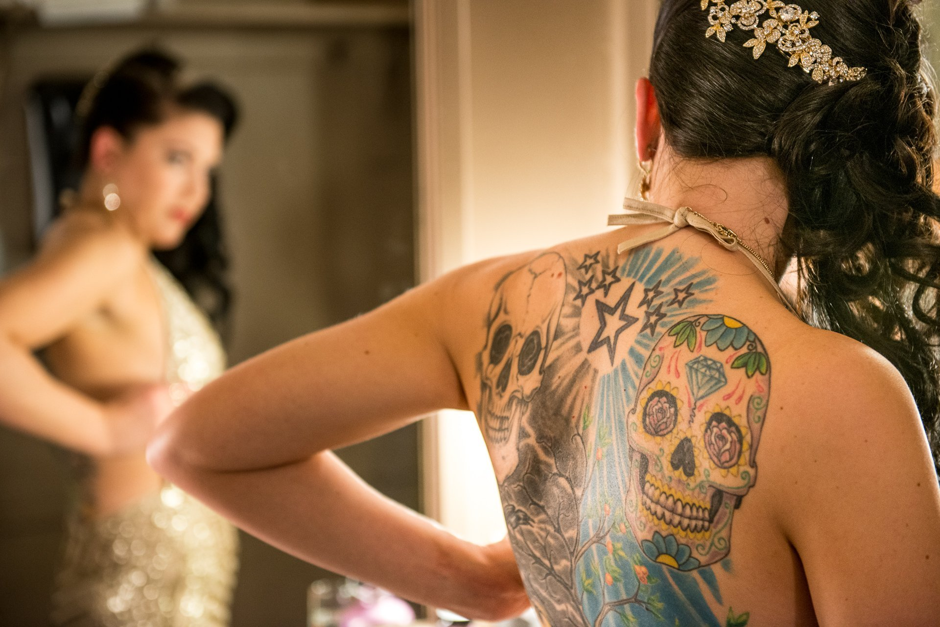Madison WI Wedding Photographers Skull Tattoo