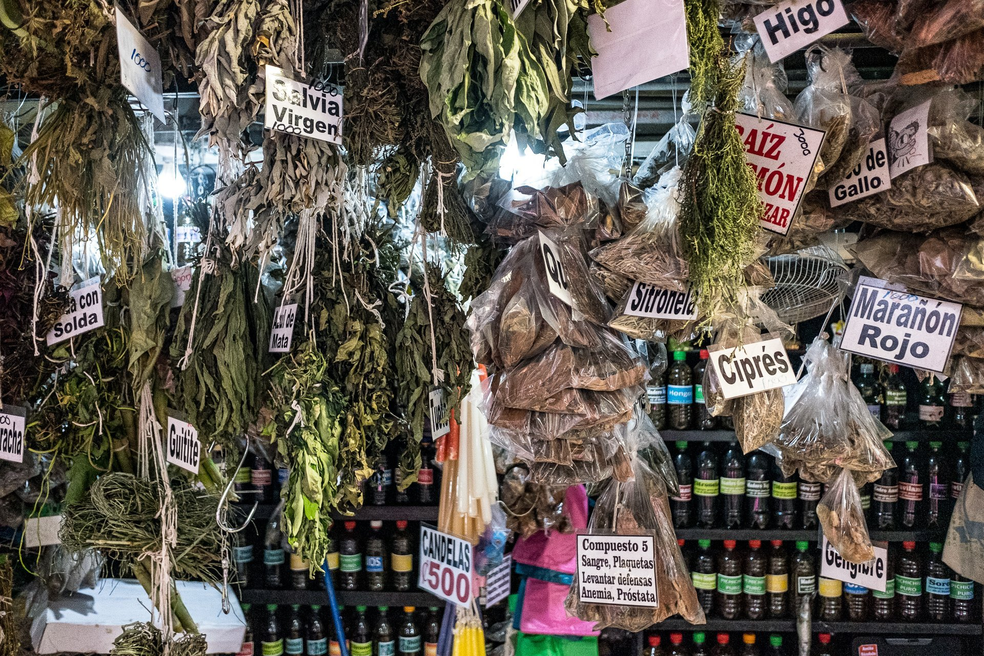 Street Photography Costa Rica Alajuela Market Herbs