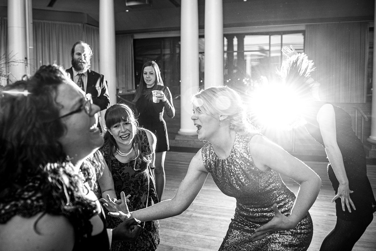 Wedding Photographers Madison WI Bride Singing