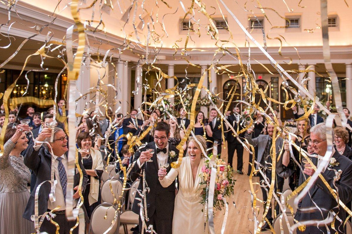 Wedding Photographers Madison WI Confetti