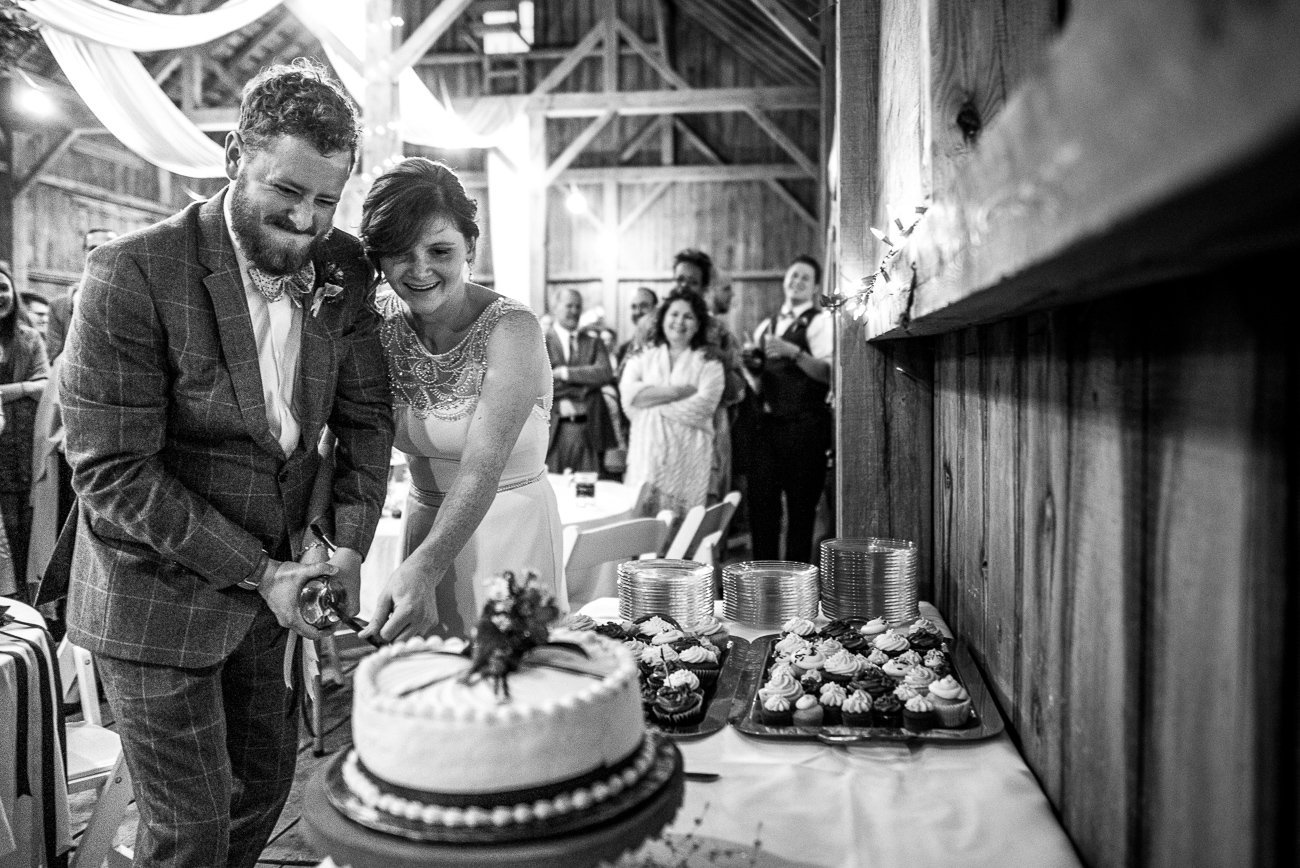 Wedding Photographers Madison WI Cutting Cake