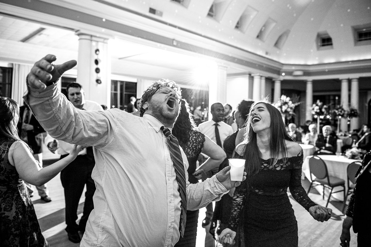 Wedding Photographers Madison WI Guest Singing