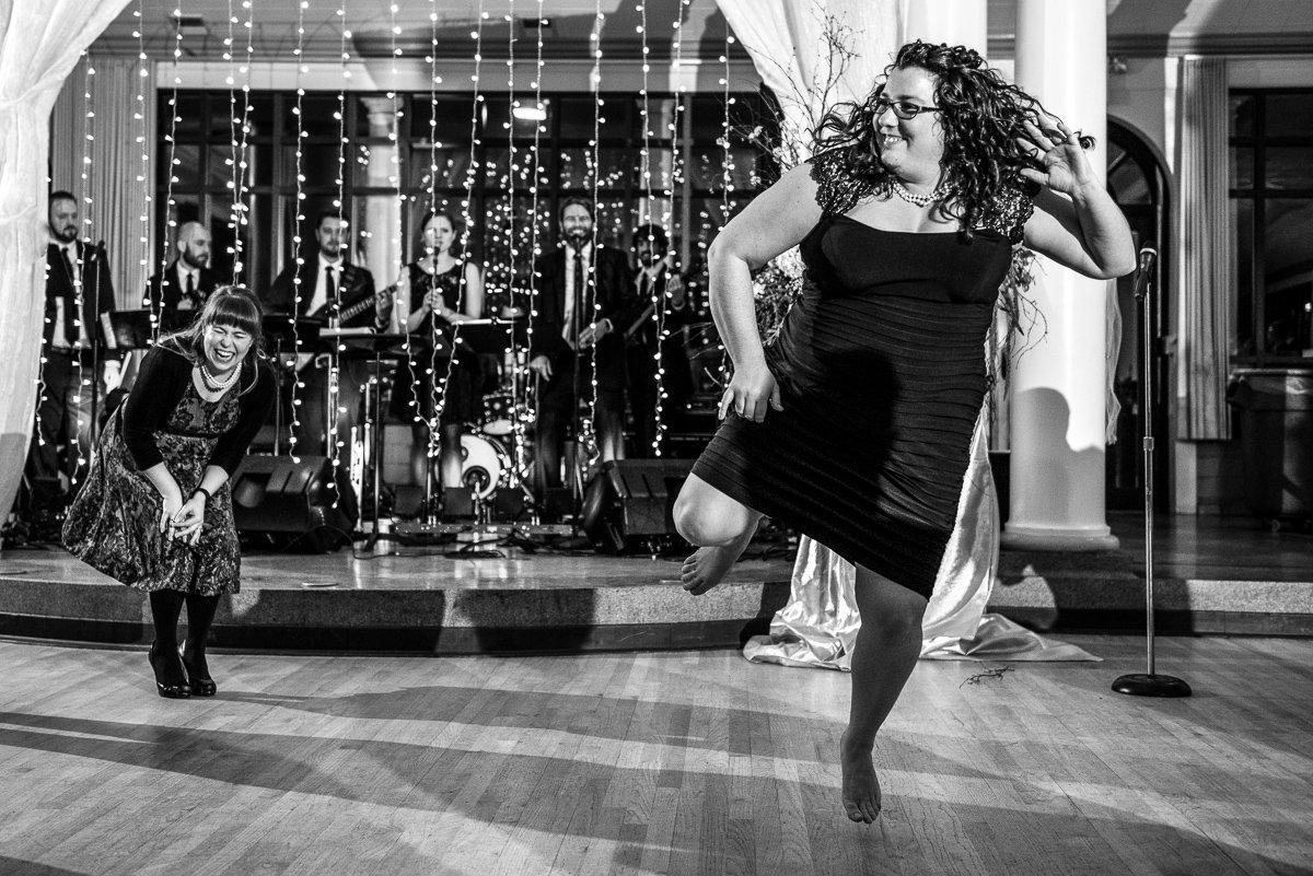Wedding Photographers Madison WI Ladies Dancing