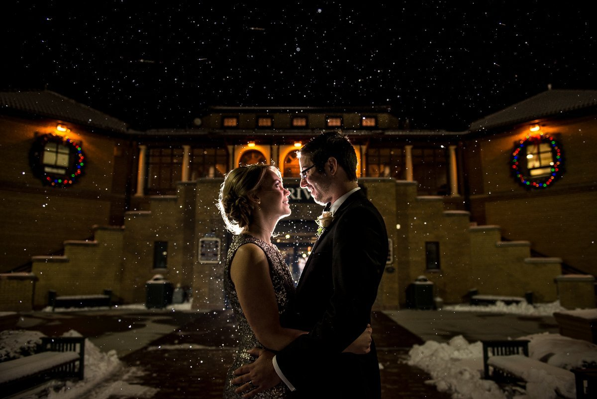 Wedding Photographers Madison WI Night Portrait