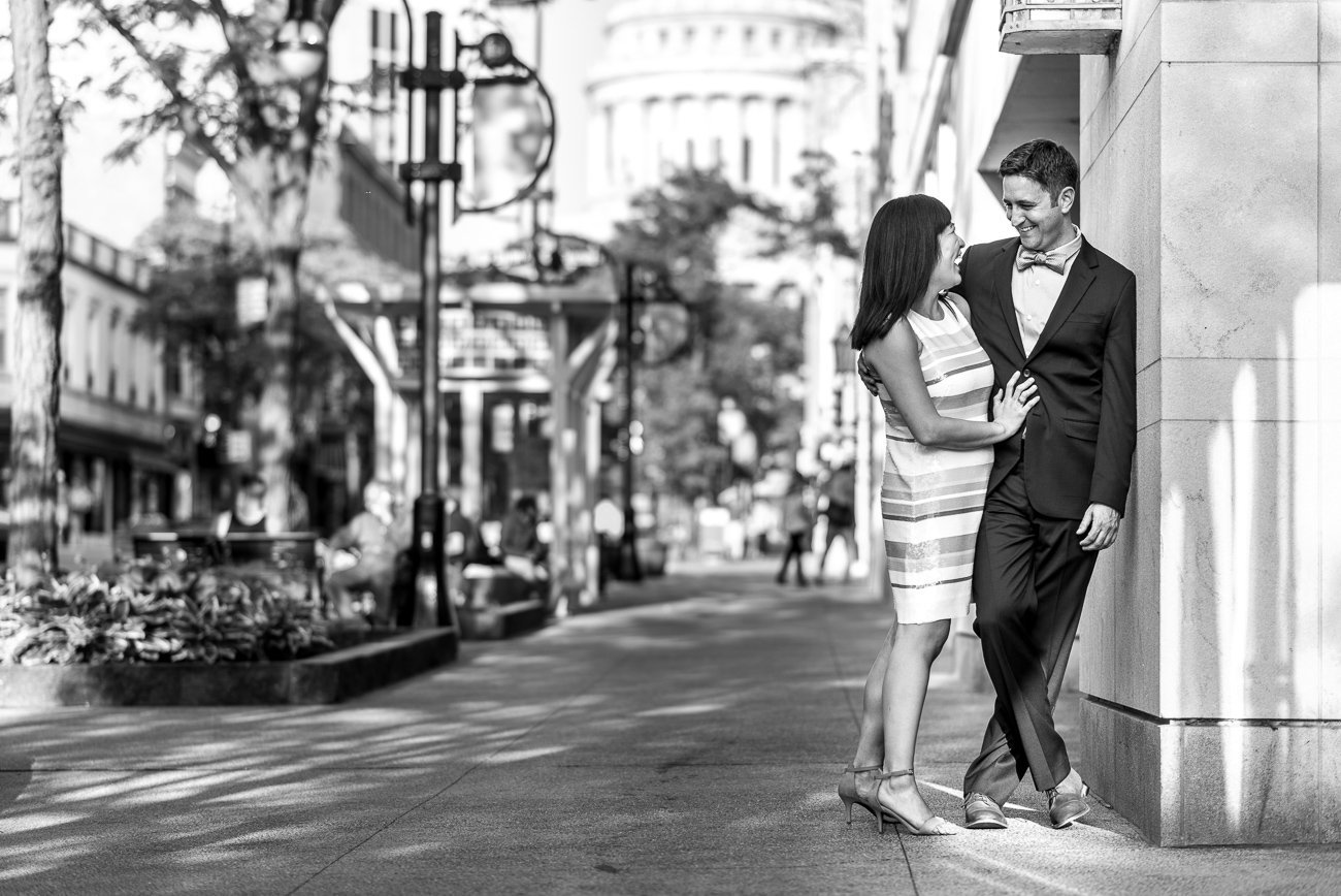 Engagement Photos Madison WI State Street