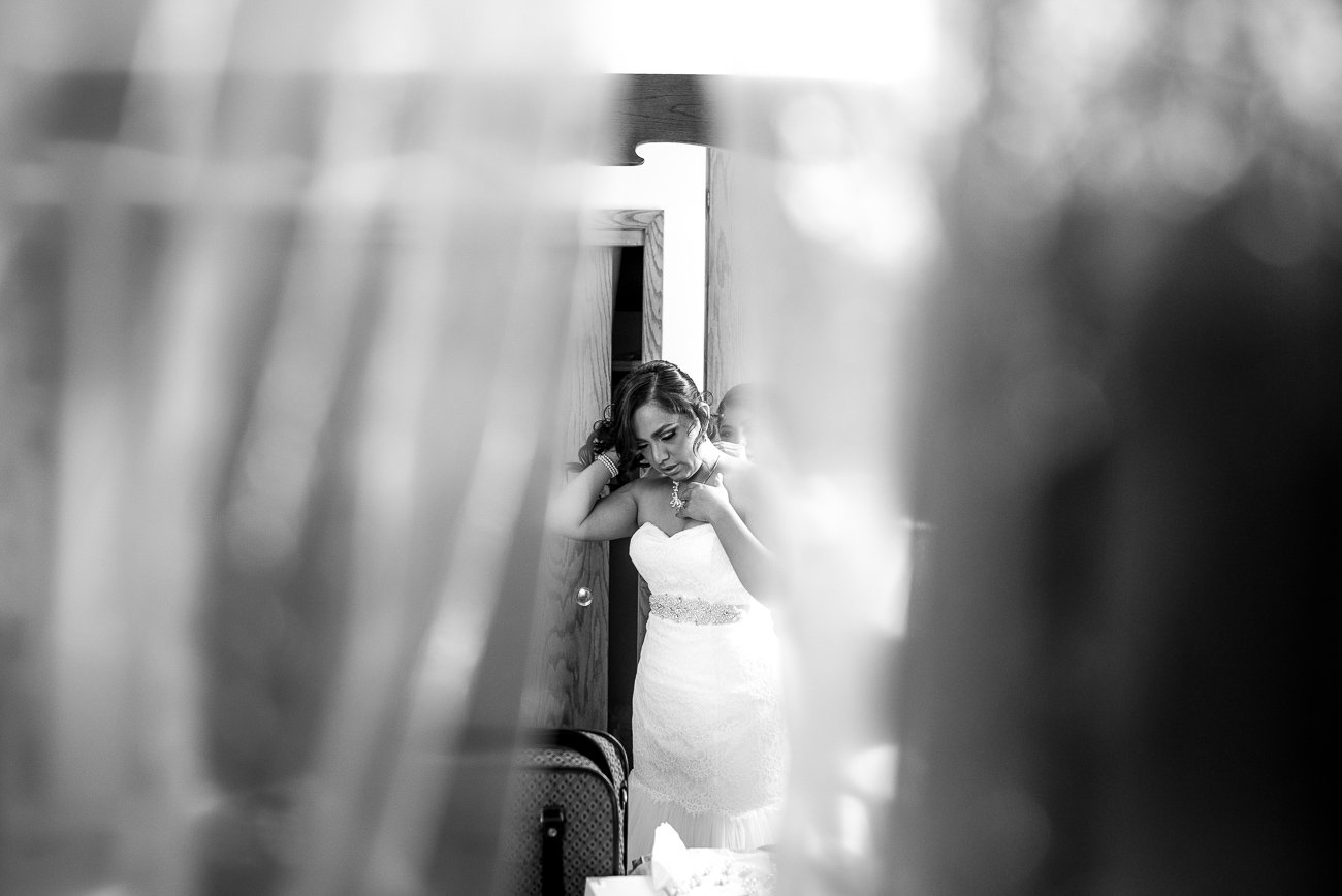 Wedding Photographers Madison WI Bride Dressing