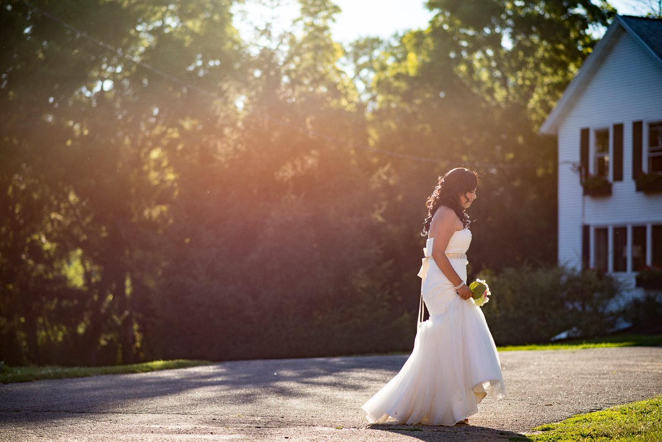 Wedding Photographers Madison WI Bride Golden Hour