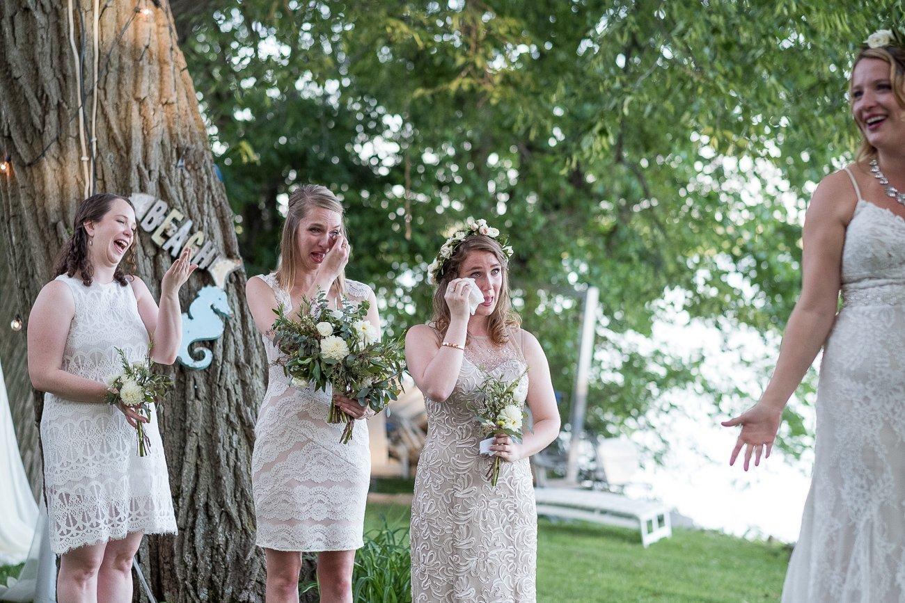 Madison-WI-Wedding-Photographers Bridesmaids Crying