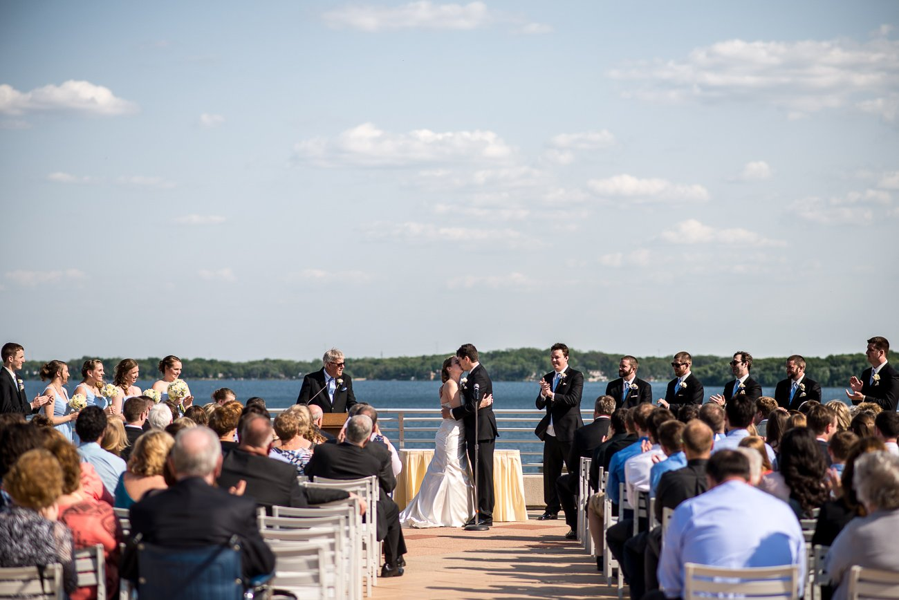 Wedding Photographers Madison WI Ceremony Kiss