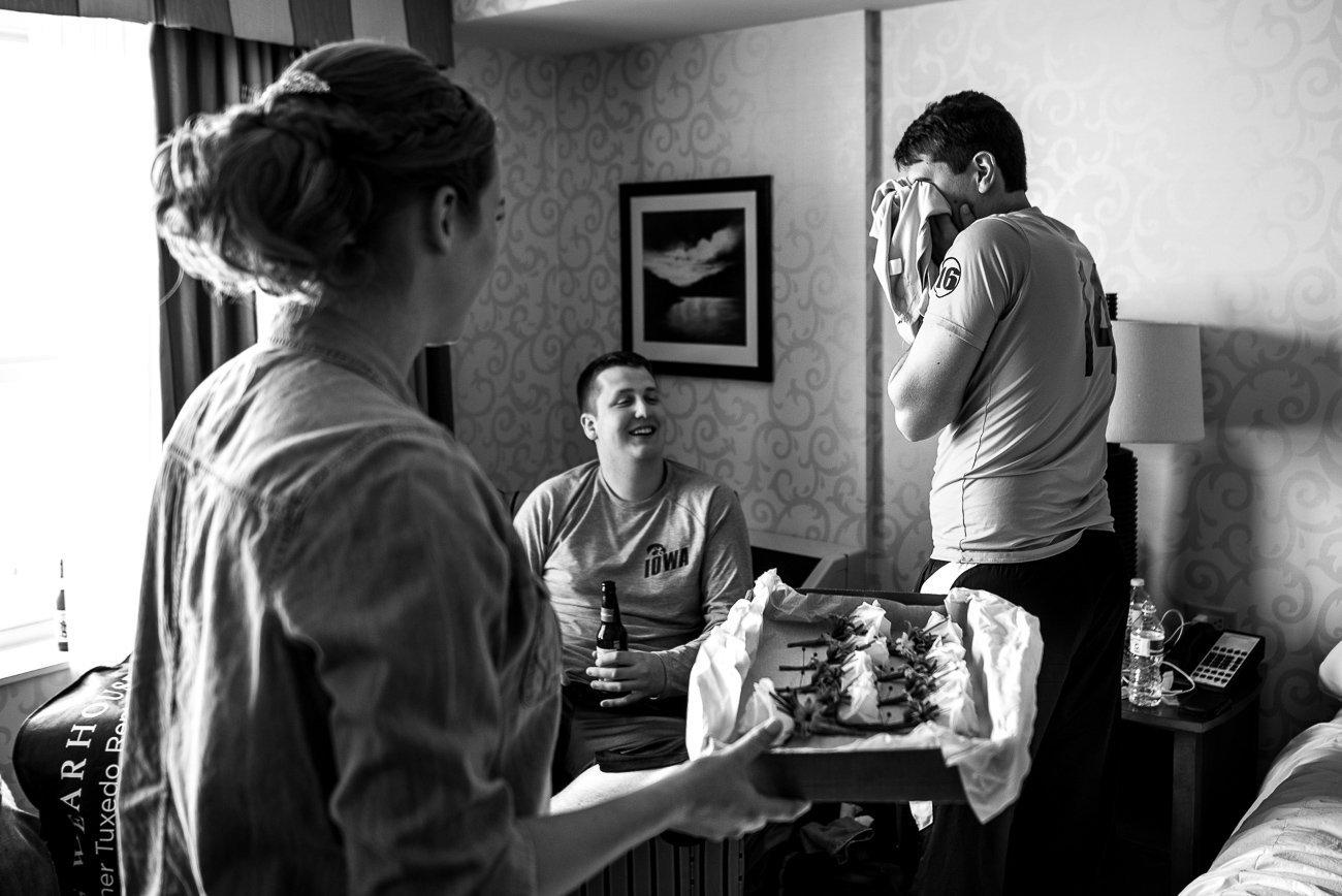 Wedding Photographers Madison WI Groom Crying