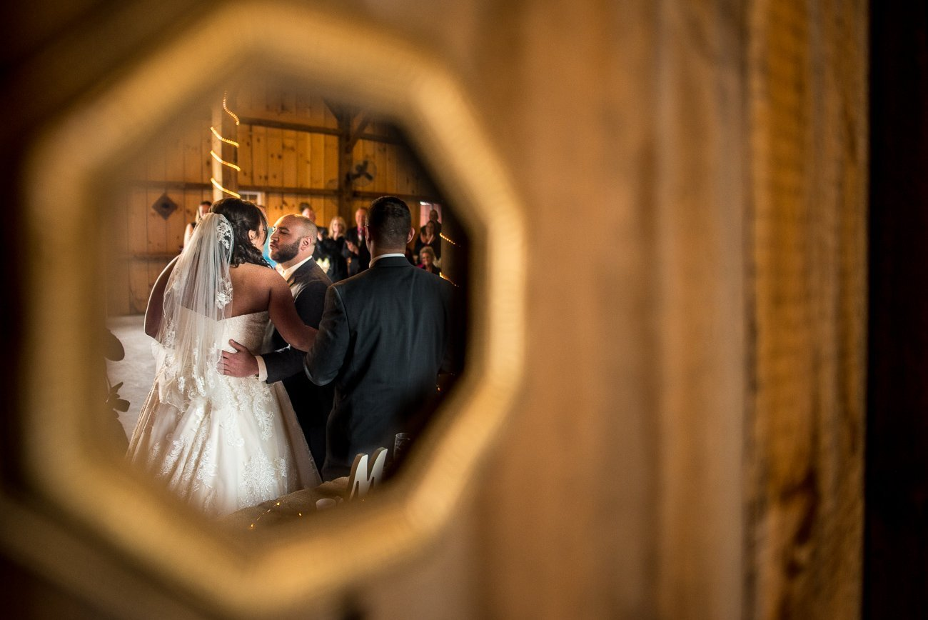 Wedding Photographers Madison WI Kiss Mirror