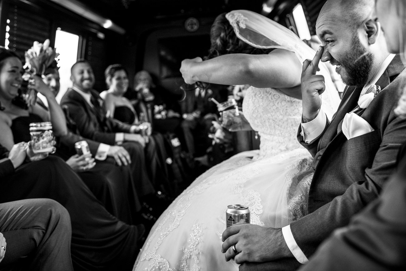 Wedding Photographers Madison WI Party Bus