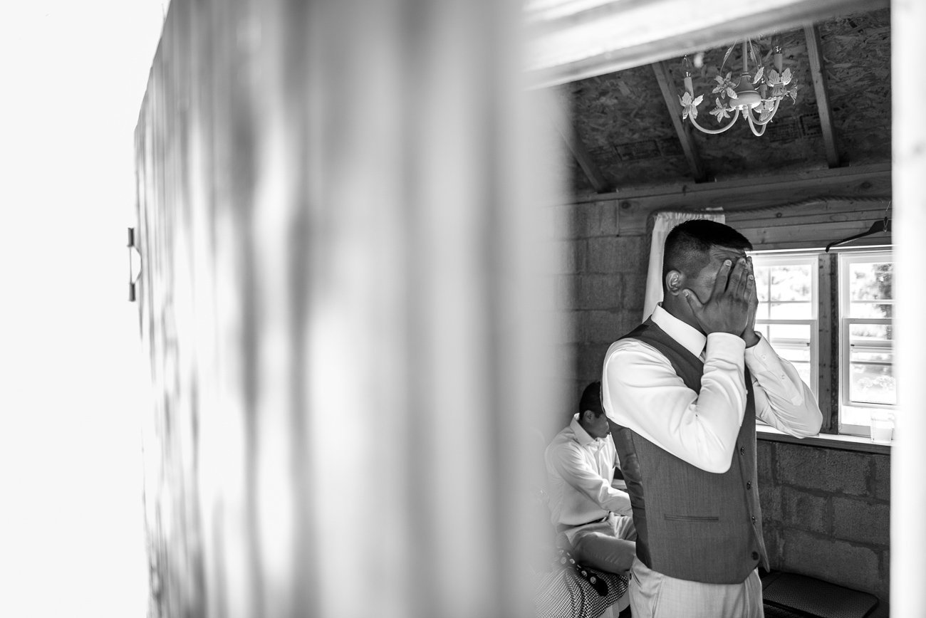 Wedding Photographers Madison WI Groom Stress