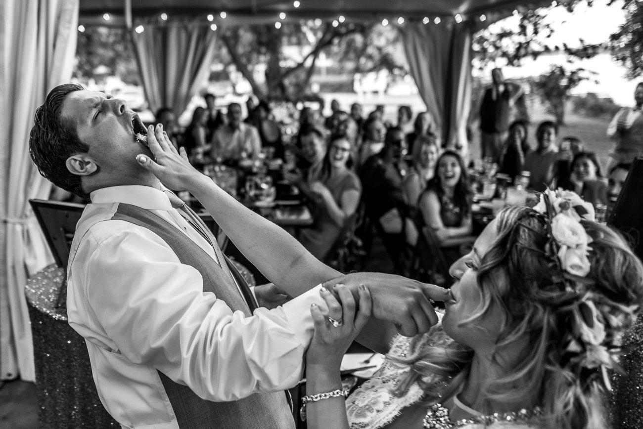 Madison-WI-Wedding-Photographers Smashing Cake