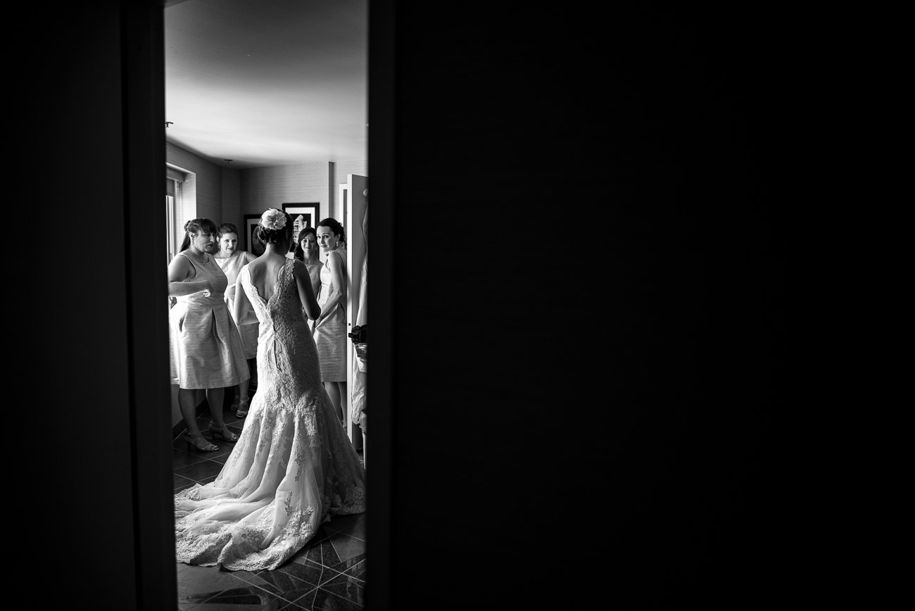 Madison WI Wedding Photographers Bride Dressing