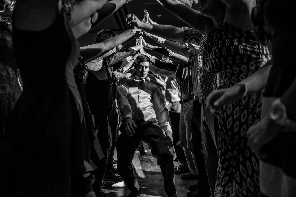 Madison WI Wedding Photographers Dance Tunel