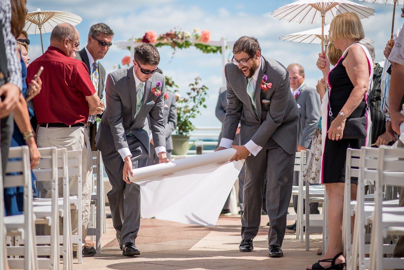 Madison WI Wedding Photographers Rolling Carpet