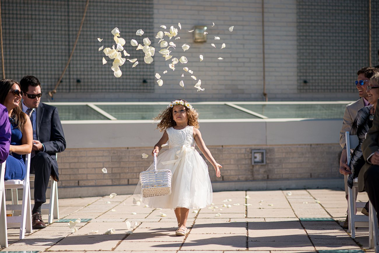 Wedding Photographers Madison WI Flower Girl