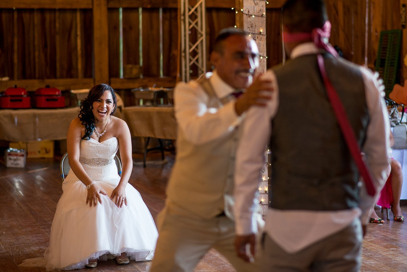 Madison WI Wedding Photographers Garter Toss