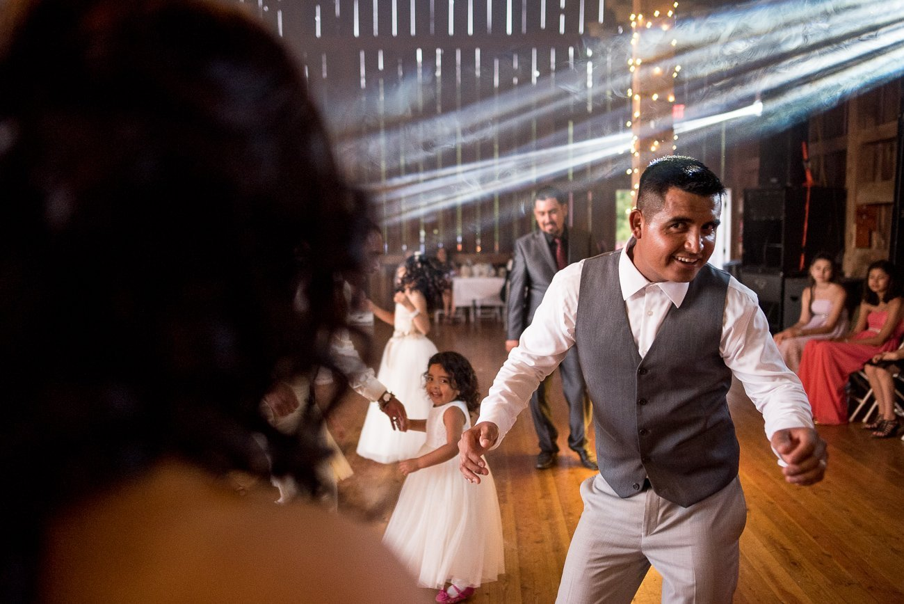 Madison WI Wedding Photographers Groom Dancing