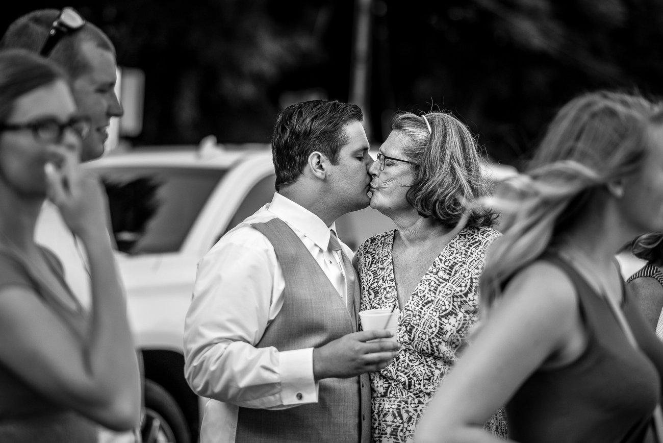 Madison-WI-Wedding-Photographers Groom Mother Kiss