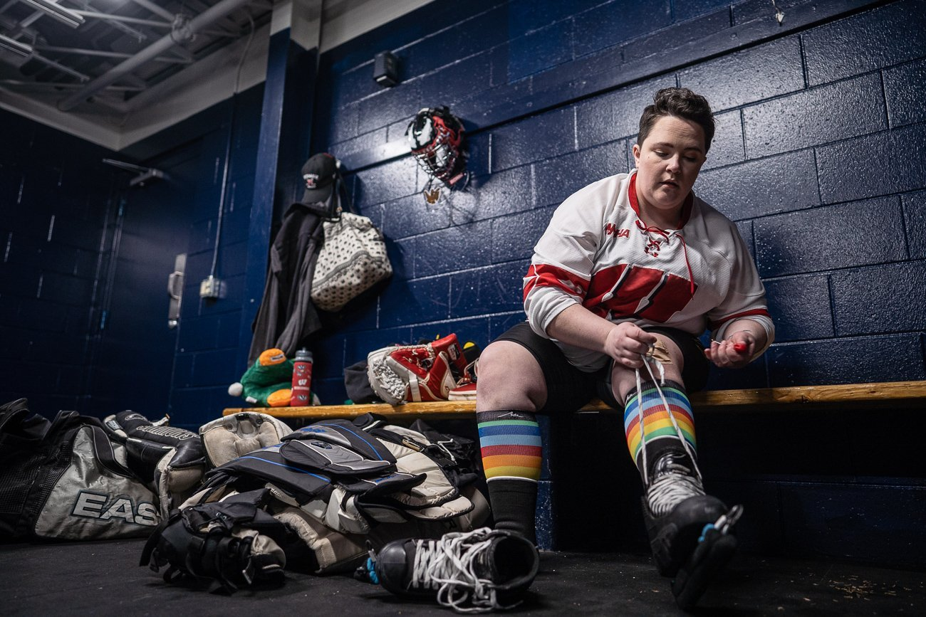 Editorial Lifestyle Photography Getting Ready Hockey