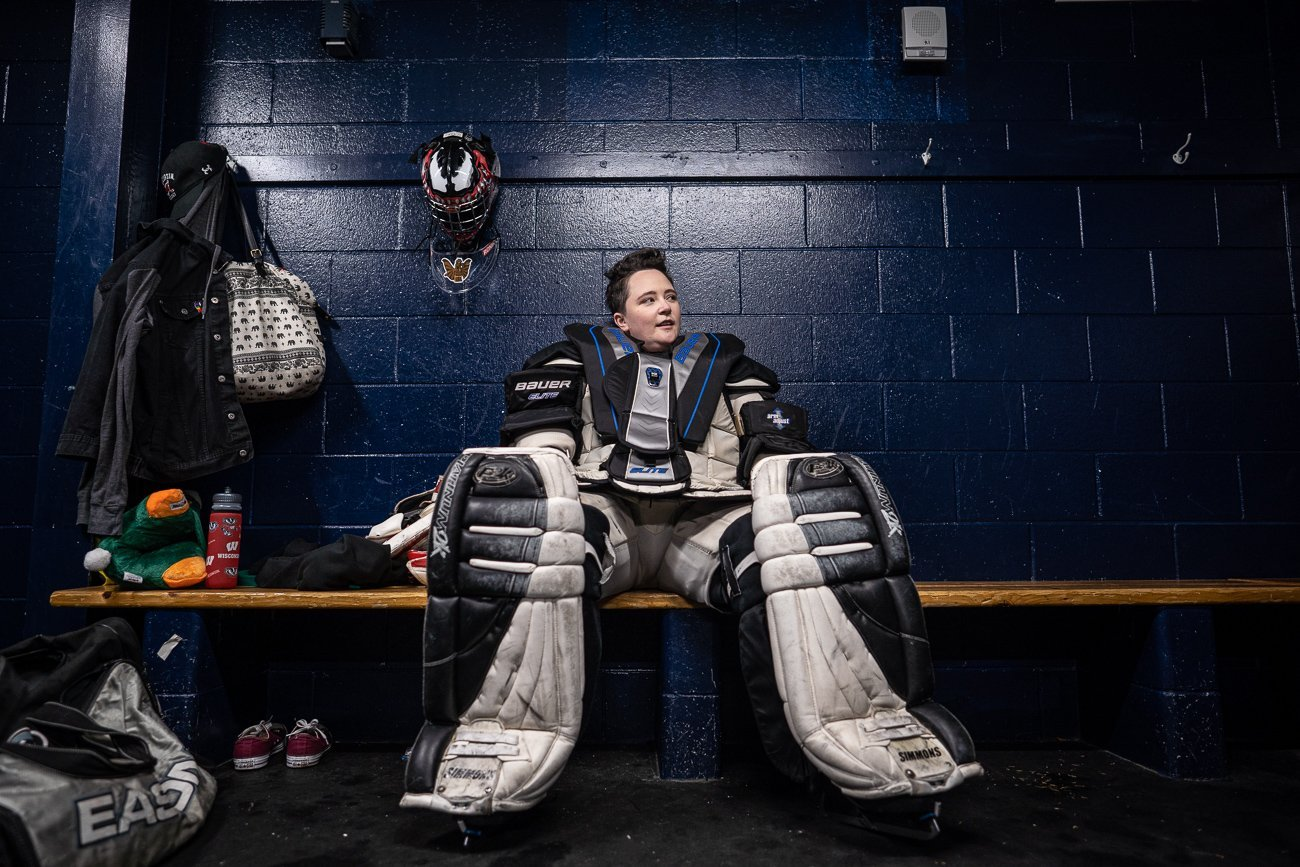 Editorial Lifestyle Photography Hockey Golie