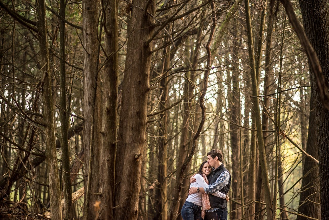 Engagement Photos Madison WI Woods Couple
