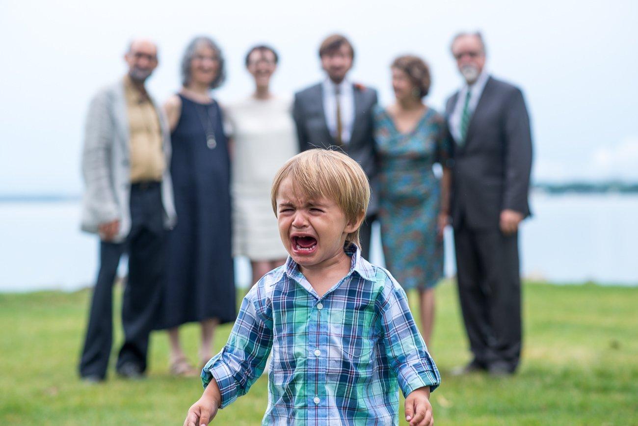 Madison WI Wedding Photographers Kid Crying