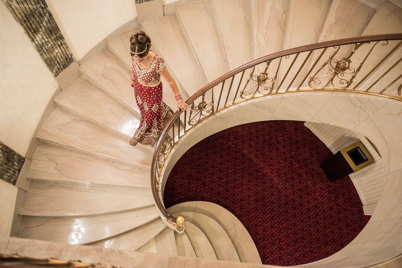 Wedding Photographers Madison WI Spiral Staircase
