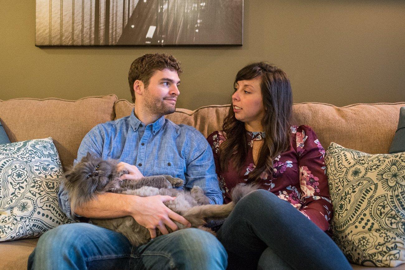 Engagement Photographers Madison WI Cuddle Cat