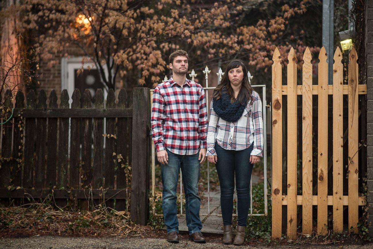 Engagement Photographers Madison WI Serious